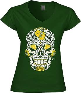 green bay packers sugar skull