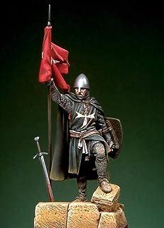 1/32 Rycerz Zakonu Świętego Jana Z Flagą Pierwsza Połowa 54Mm Historyczna Figura Zestaw Z Żywicy Unassambled Niepomalowany