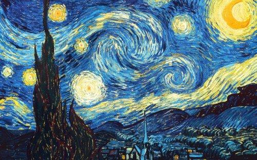 Diamond Painting La Noche Estrellada Cuadros Diamantes Van Gogh 5D Taladro Completo...