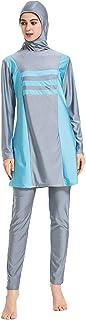 Muslim Swimsuits for Women Plus Size, Modest Islamic Swimming Suit Burkini Hijab