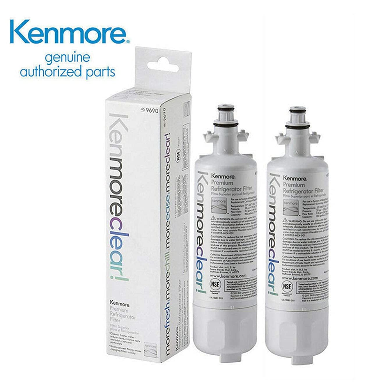 Happy-shoP 2 Pack 469690, 9690, DQ36006101, LT700P Refrigerator Water Filter