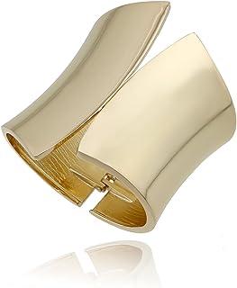 HAHA&TOTO Women Luxury Gold Smooth Statement Bangle Bracelet, Geometry Shape Gothic Style Chunky Bangle Fashion Jewelry