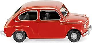 Fiat 600, rojo - Modelo de Auto, modello completo - Wiking 1