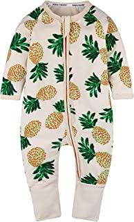 Baby Boys Pineapple Footed Zipper Pajama Sleeper Cotton Romper(Size 4-24M)
