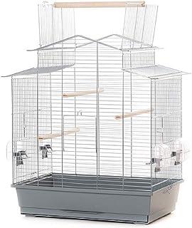 Ollesch XXL klatka dla ptaków, falista, kanaryjki, z wolnym siedzeniem, 58,5 x 38 x 65 cm