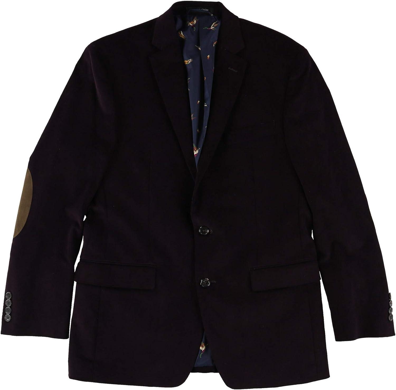 Ralph Lauren Mens Ultraflex Sport Coat, Purple, 43 Regular