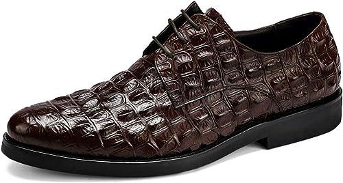 BNMZX Chaussures pour Hommes, Derby a souligné Le modèle Britannique Britannique rétro en Cuir de modèle de Crocodile en Cuir Oxford  expédition rapide dans le monde entier