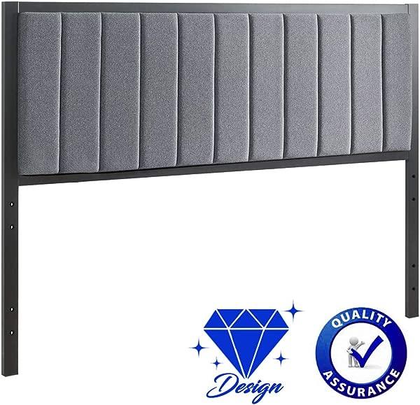 BestMassage Queen Headboard Tufted Headboard Fabric Upholstered Linen Heavy Duty With Full Queen Size Adjustable In Gray