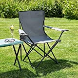 Raiyaraj Folding Camping Big Foldable Chair Light Weight Portable Chair with arm Rest and Cup Holder, Garden Fishing Beach Picnic Outdoor Chairs Beach, Travelling, Lawn (Big, Multicolour)