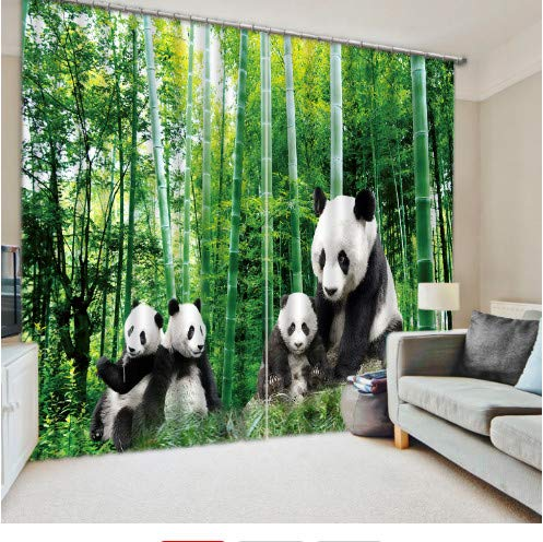 China National Treasure Panda Bambus Vorhang Digitaler Fotovorhang W180cm H220cm