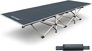 Niceway Oxford Portable Folding Bed Camping Cot with Storage Bag,Weight Capacity to 300 or 440 lbs, Strong Stable Collapsible Folding Camping Cot Great for Camping, Traveling and Home Lounging