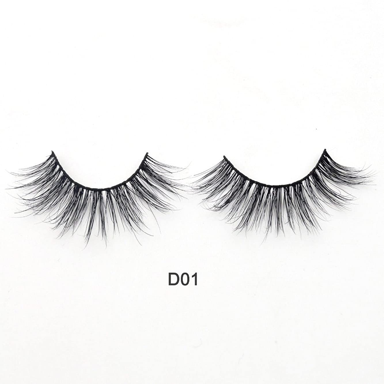 日記怖がらせる土器(D01) Visofree Eyelashes 3D Mink Lashes Luxury Hand Made Mink Eyelashes Medium Volume Cruelty Free Mink False Eyelashes Upper Lashes