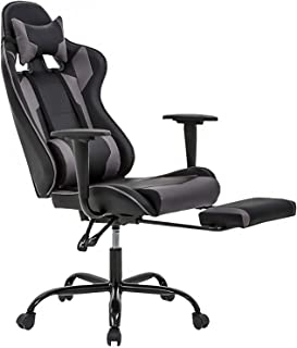 High-Back Office Chair Ergonomic PC Gaming Chair Desk Chair Executive PU Leather Rolling..