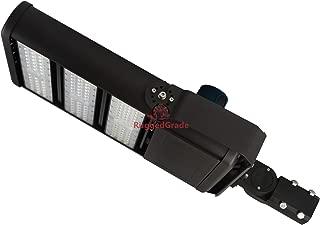 61,000 Lumen LED Parking Lot Lights – Pro 2 Series - 450 Watt LED Parking Lot Light – Super Efficiency 135 Lumen to Watt - 5000K Bright White - Replaces 1500W Halide –Shoebox Light -Sport Court