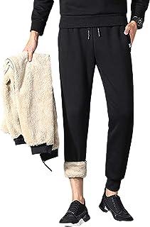 Lentta Men's Casual Winter Warm Sherpa Lined Athletic Jogger Fleece Sweatpants Pants