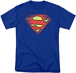 Popfunk Superman Distressed Bright Logo S Shield T Shirt & Exclusive Stickers