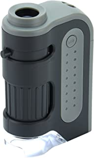 Carson MicroBrite Plus 60x-120x LED Lighted Pocket Microscope with Aspheric Lens System (MM-300 or MM-300MU)
