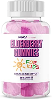 MAV Nutrition Elderberry Gummies 150mg with Vitamin C & Zinc for Healthy Immune Support – Designed for Ultimate Health & W...