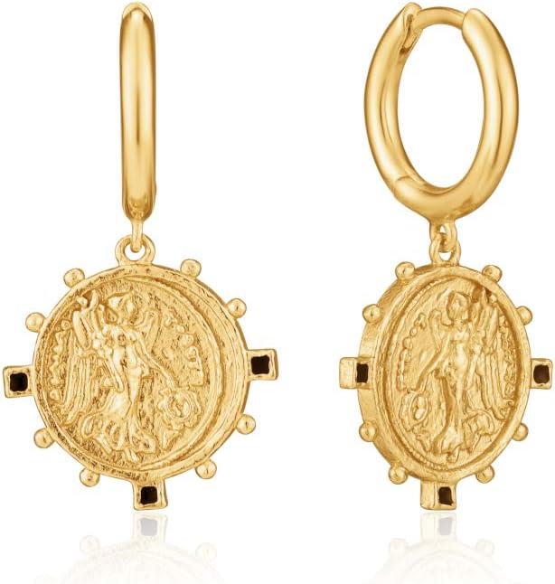 Victory Goddess Mini Hoop Earrings