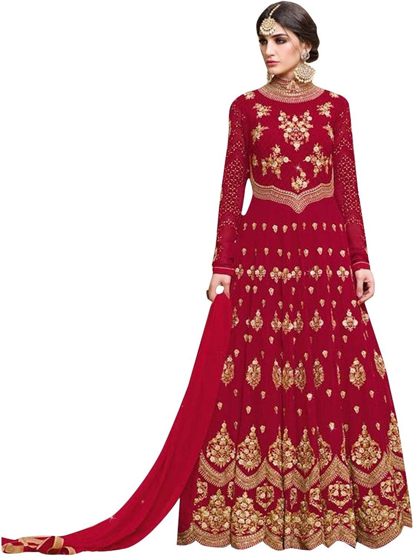 Bollywood Anarkali Dresses for women Salwar Kameez Ceremony Wedding Punjabi 753 2