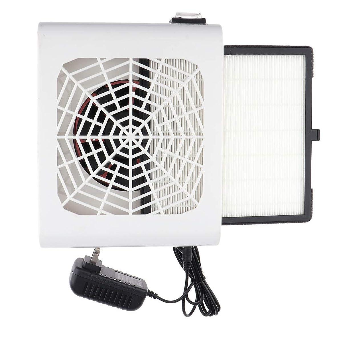 エステート受け取るヒゲP Prettyia 48W ネイルダストコレクター ネイル送風機 フィルター