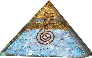 Opalite Orgone Pyramid for Feng Shui Chakra Balancing Crystal Energy Generator Reiki Healing EMF Protection Aura Cleansing Spiritual Meditation Home Office Decor Size: 2.5-3 Inch