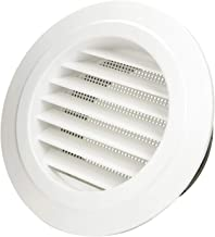 Hon&Guan 6'' Air Vent Louver, Air Grill Cover with Built-in a Fly Screen for Bathroom Office Home (ø150mm)