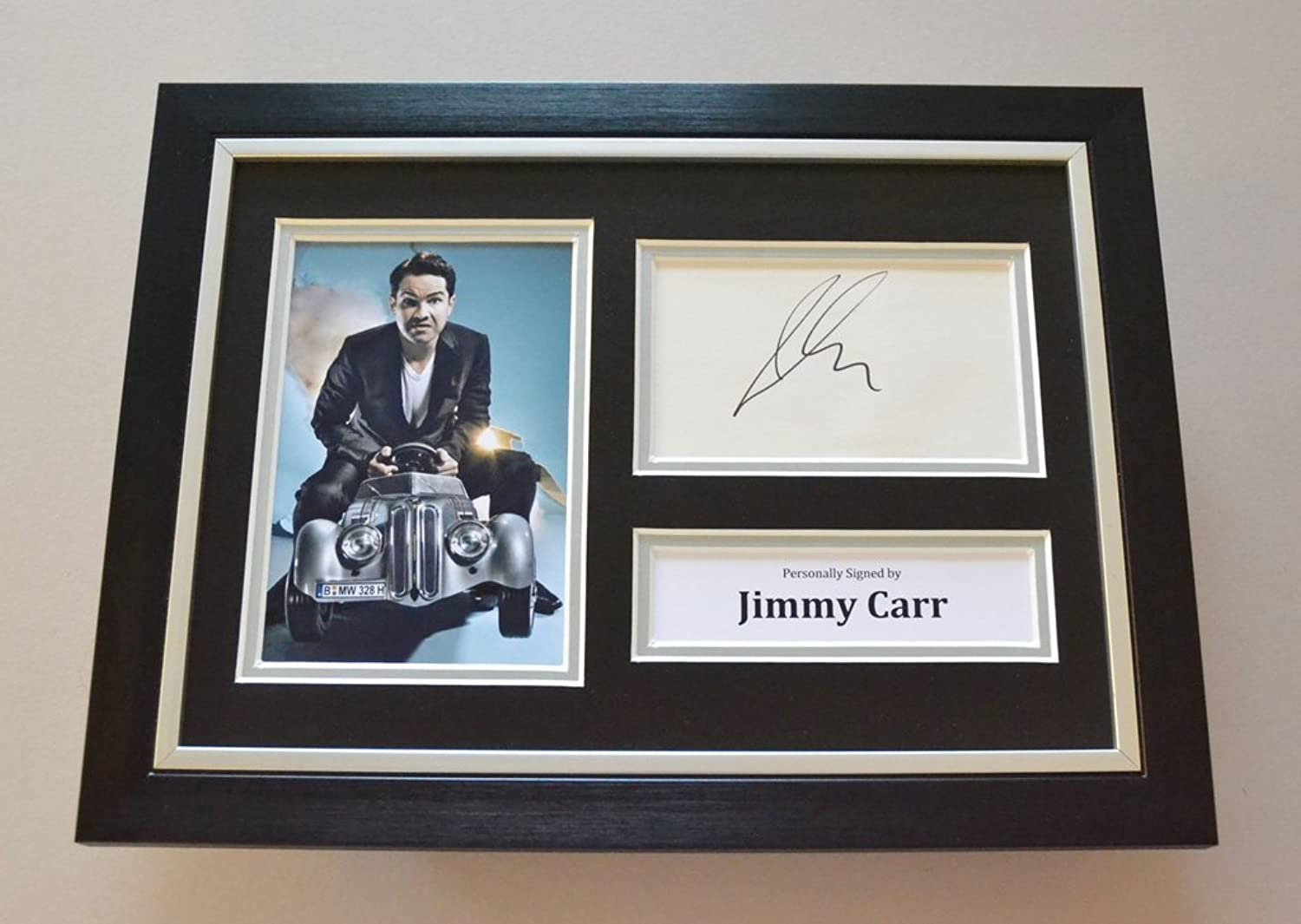 Jimmy Carr Signed A4 Photo Framed 8 Out of 10 Cats Autograph Display Memorabilia