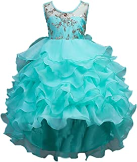 ADHS Kids Baby Girls Flower Floral Wedding Gowns Special Occasion Dresses