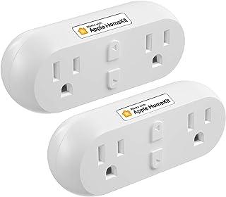 meross Smart Plug Dual WiFi Outlet Plug 2 in 1، پشتیبانی از Apple HomeKit، Siri، Alexa، Echo، Google Assistant and SmartThings، Voice