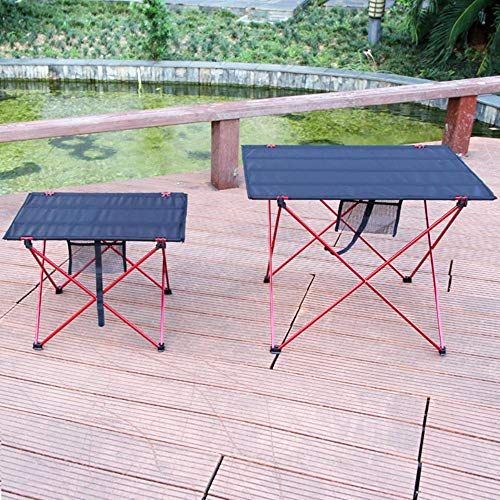 XDHN draagbare tafeltennistafel buiten, inklapbaar, voor picknick, camping, grootte van de meubels S L 6061 anti-slip on lichte kleur bureau opvouwbaar, lippenstift