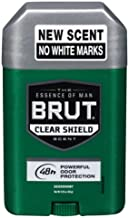 Brut Deodorant 2.25oz Oval Solid Clear Shield (3 Pack)