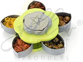 Yellow Leaf Products Dry Fruit Tray with 5 Box in Candy & Chocolate, Smart Candy Box Serving Rotating Tray Spice Snacks & ...