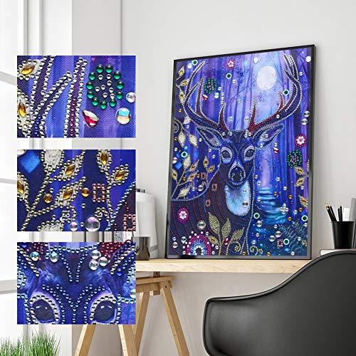 CIDZA 5D Diamond Painting Digital Oil Painting Resin Diamond Painting Art Series-Deer 30 * 40CM