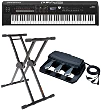 "Roland RD-2000 88 Weighted Keys Digital Stage Piano - Bundle With Roland RPU-3 Pedal Unit with 3 Separate 1/4"" Jacks, KS-2..."