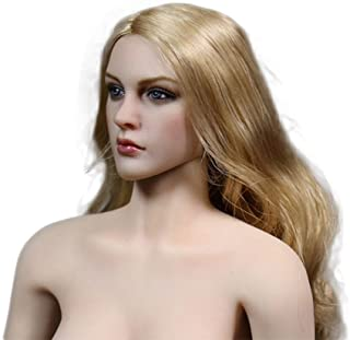 """Phicen 1/6 Scale Head Sculpt with Gold Hair for 12"""" Female Body"""