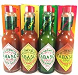 Tabasco Sauce Variety 4 Pack Original, Garlic, Green Pepper, Hababero