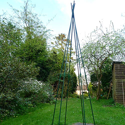 GardenSkill Pea and Runner Bean Wigwam Teepee - Garden Support Frame Kit for Vegetables, Legumes, Flowers and Climbing Plants