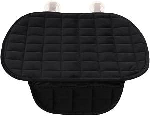 Demiawaking Car Seat Cushion Breathable Warm Sponge Individual Car Seat Pad Cushion Massage Seat Cover Mat Anti Slip for Winter  Black