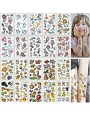 Tijdelijke Waterdichte Sticker Voor Dieren Tijdelijke Tattoo Set Kinderen Zeemeermin Tattoo Sticker Tatoeagestickers Voor Kinderen Tijdelijke Tattoo Voor Kinderen Meisjes Jongens 20 Vellen
