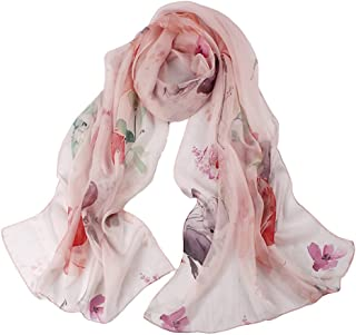 Womens 100% Mulberry Silk Head Scarf For Hair Ladies Silk Scarf Gift And Gift Box