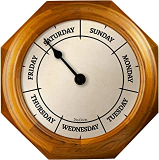 DayClocks Classic Day Clock – Day of The Week Clock - Fun Retirement Gift – Oak Wall Clock