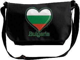 BUGKHD Love Bulgaria Bandera bandolera bandolera bandolera para hombres y mujeres bolsa de mensajero de moda bolso de mano...