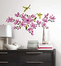 Asian Paints Nilaya Pink Flowering Vine wall stickers