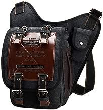 Mens Boys Vintage Canvas Bags Retro Single Shoulder Bag Military Messenger Bag