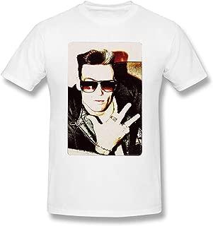 Vanilla-Ice-1990-London-High-Contrast-Photo T Shirt Funny Unisex Cotton Shirt Best Gift Idea Men Women Youth Boys Top White