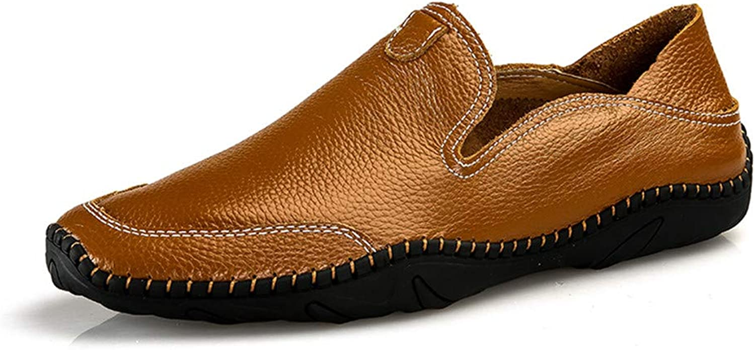 Men's shoes Casual Loafers & Slip-Ons Comfort Flat Loafers Spring Fall Comfort Driving shoes Lazy shoes,C,40