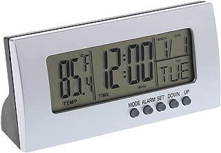 Oranmay LCD 12H/24H Digital Snooze Alarm Desktop Clock Time Calendar Thermometer Temperature