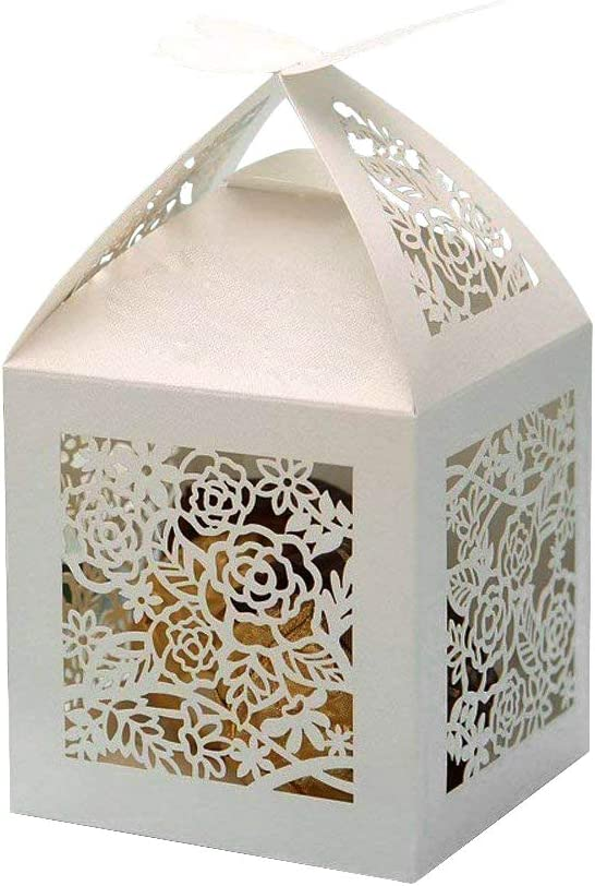 PONATIA Limited price sale 25Pcs Lot 4''x4'' Laser High order Cut Fa Pearl Paper Wedding Party