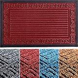 Extra Durable Door Mat Inside/Outdoor - Non-Slip Indoor Door Mat (29,5 x 17) - Easy Clean Front/Back Door mat - Burgundy...